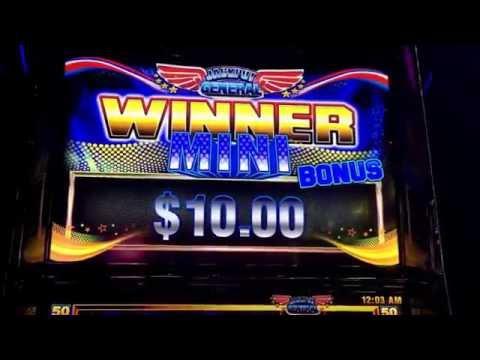 Ainsworth- Jackpot General - $5 bet - Free Spins - Progressive Win & Retrigger - pokie slots