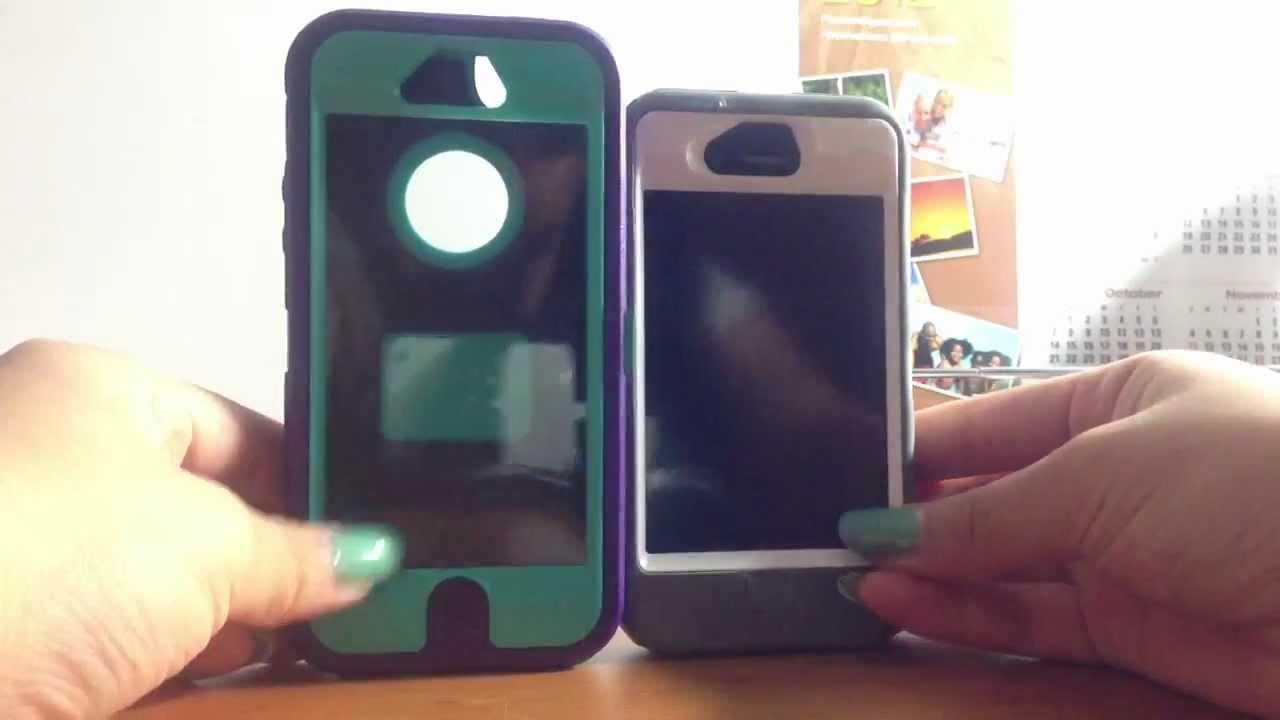 best website cd1af db1dd Unboxing Otterbox Iphone 5 Defender Case Purple & Teal ♡