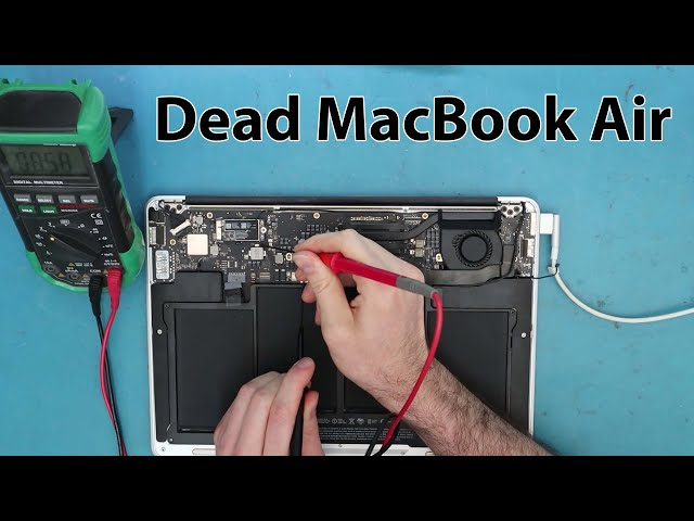 Troubleshooting and Fixing MacBook Air A1466 820-00165-A  with Orange Light No Power