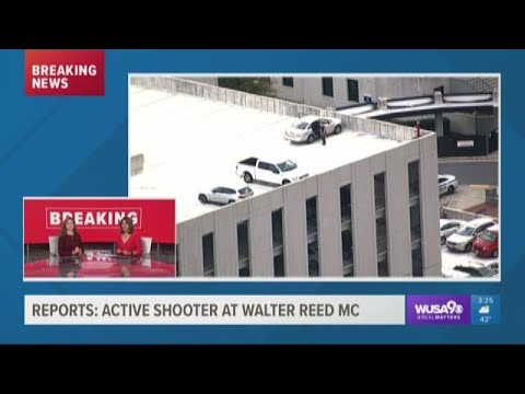 Active shooter reports at Walter Reed hospital cause panic, confusion