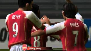 FIFA 2005 DEMO - Arsenal vs AC Milan 4 - 1 - Gameplay