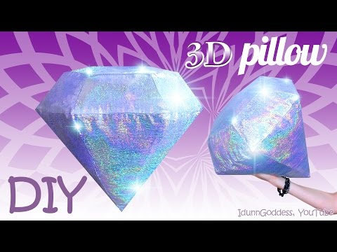 Thumbnail: How To Make A Diamond Pillow – DIY 3D Holographic Gemstone Pillow