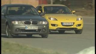 Vergleich Mazda RX-8 vs. BMW 330 Ci: Verschiedene Coupé-Konzepte im Vergleich