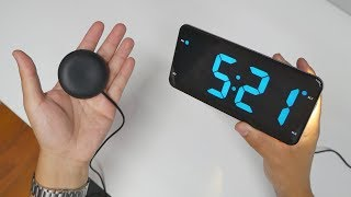 Digital Clock with Bed Shaker - No excuses to not wake up anymore!