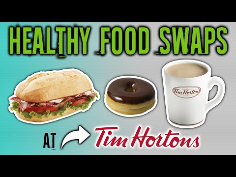 Healthiest Foods At Tim Hortons And The Worst (HEALTHY FAST FOOD SWAPS) | LiveLeanTV