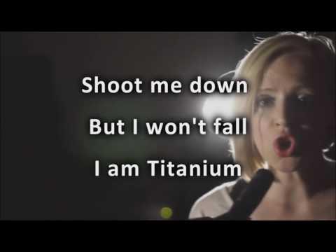 "Madilyn Bailey ""Titanium""  Karaoke (No Vocal, Playback) David Guetta - ft Sia"