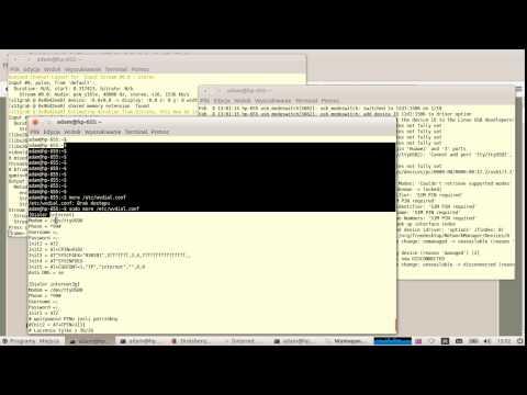 HUAWEI MBB E3272 E3276 E398 connection tutorial for LINUX - YouTube