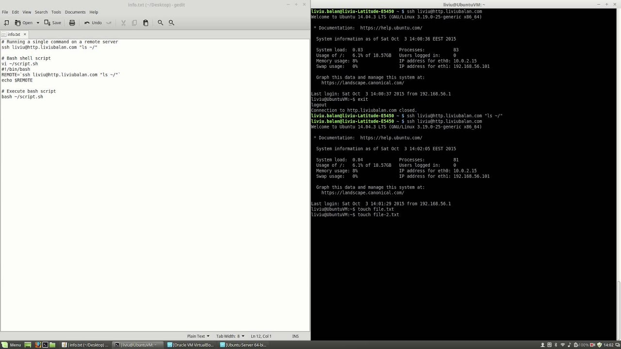 Running remote command using SSH on Ubuntu Server #22
