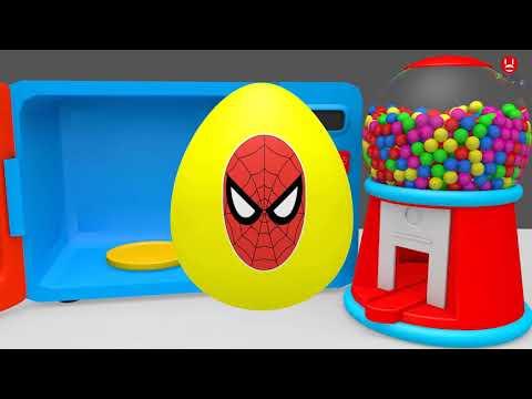 lagu anak-anak dan belajar bahasa inggris dengan animasi spiderman dan animasi anak-anak 2