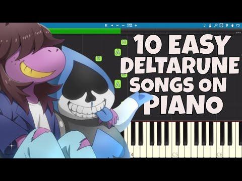 DELTARUNE EASY Songs on Piano Compilation - Piano Tutorial