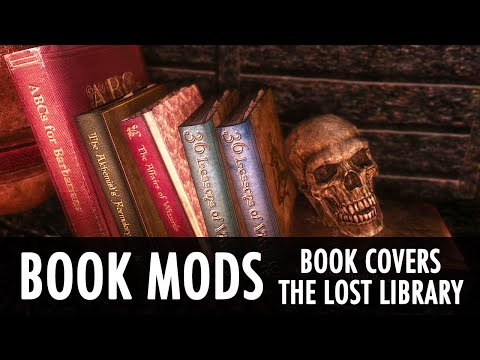 Skyrim Mod: Books Mods - Covers, Lost Library, Unread