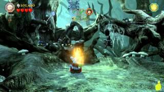 Lego The Hobbit: Level 10 Flies and Spiders - FREE PLAY (All Minikits, Treasures & Design) - HTG