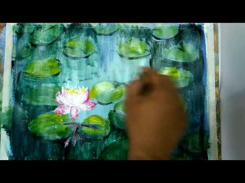 Art and Craft Ideas /Impressionist Painting/Acrylic Painting Tutorial #09