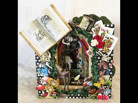 Alice In Wonderland - Tunnel Book
