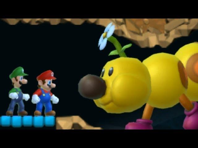New Super Mario Bros Wii - All Underground Levels (2 Players)