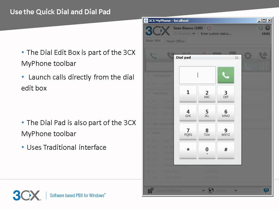 3CX End User Training: Using 3CX MyPhone to Make and Manage Calls