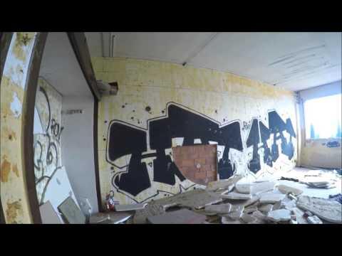 GRAFFITI URBAN EXPLORING BCNLEGENDS BARCELONA BADIA COLEGIO ABANDONADO URBEX GOPRO