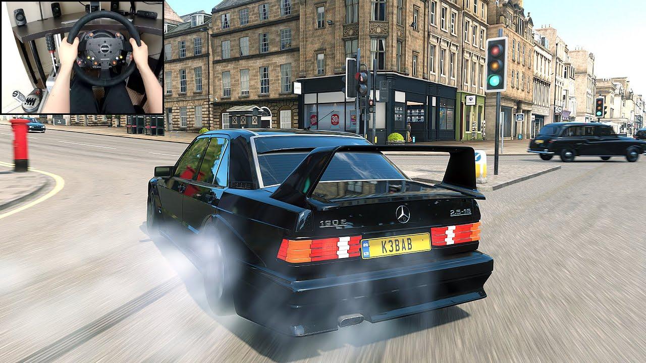 Mercedes Benz 190E DRIFTING - Forza Horizon 4 (Steering Wheel + Shifter) Gameplay