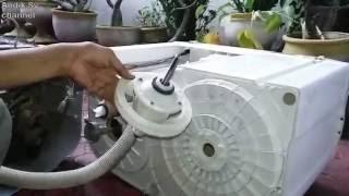 Cara Ganti Gearbox Mesin Cuci 2 Tabung Polytron Primadona Part 1 LENGKAP