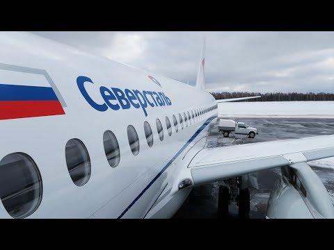Superjet 100 а/к Северсталь | Москва - Череповец