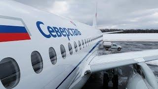 Superjet 100 а/к Северсталь   Москва - Череповец