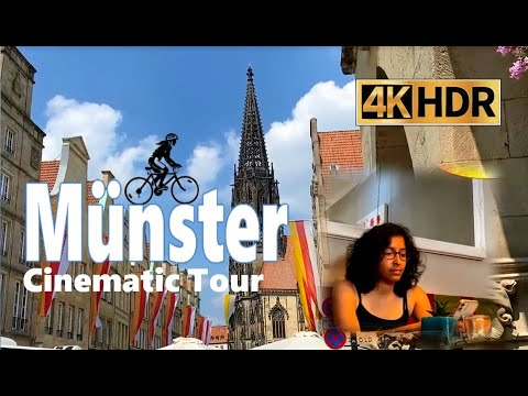 A Day in Münster | City Tour in 4K | Things to do | Bicycle Town of Germany | Cinematic B-Roll Video thumbnail