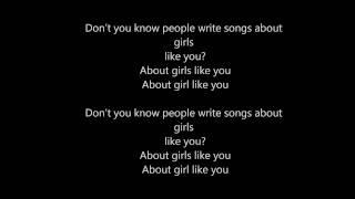 The Naked and Famous - Girls Like You - LYRICS