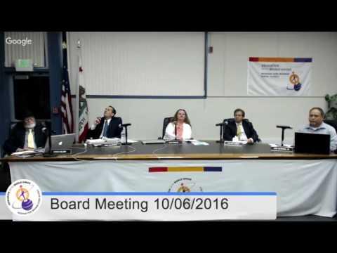 MVWSD Board Meeting 20161006