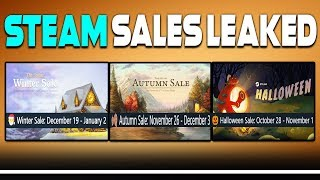 HUGE STEAM SALES LEAKED - Winter, Autumn and Halloween Sales 2019!