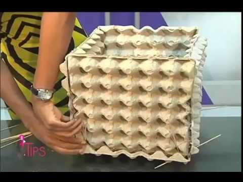 DIY Canasto hecho con cartn de huevo y consejos para