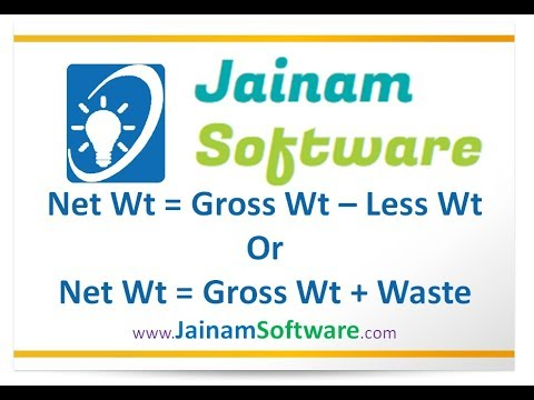 How to Add or Less Waste From Gross Weight | Jainam Software