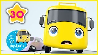 Buster and the Boxes! | GoBuster Compilation | Little Baby Bus | Nursery Rhymes |  ABCs and 123s