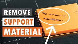 Support Material Stuck To Heatbed? - EASY Solution