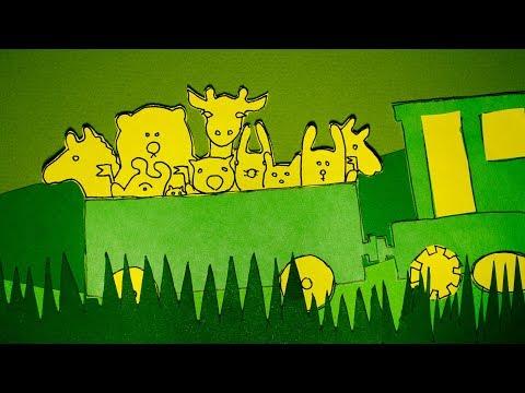 Зелёный паровоз. Мультфильм