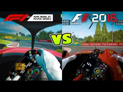 F1 Mobile Racing Vs F1 2016 Mobile GRAPHICS COMPARISON In Cockpit View