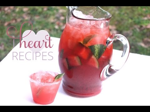 Sweet Watermelon Iced Tea Recipe - I Heart Recipes
