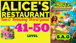Alice Restaurant Word Game level 41 42 43 44 45 46 47 48 49 50 answer gameplay Full Story Design screenshot 4