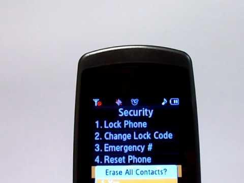 Samsung JetSet SCH-R550 Erase Cell Phone Info - Delete Data - Master Clear Hard Reset