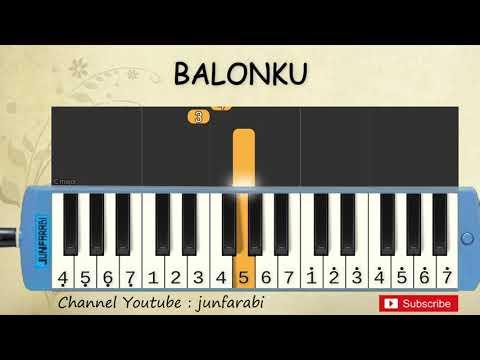 Not Pianika Balonku - Tutorial Belajar Pianika Lagu Anak - Not Angka Balonku
