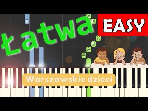 🎹 Warszawskie dzieci - Piano Tutorial (łatwa wersja) 🎹