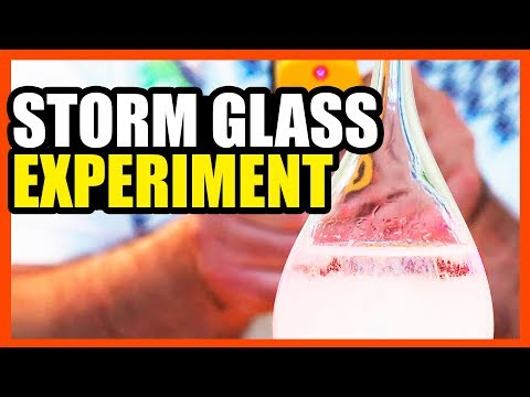 Storm Glass Follow-Up & Experiment