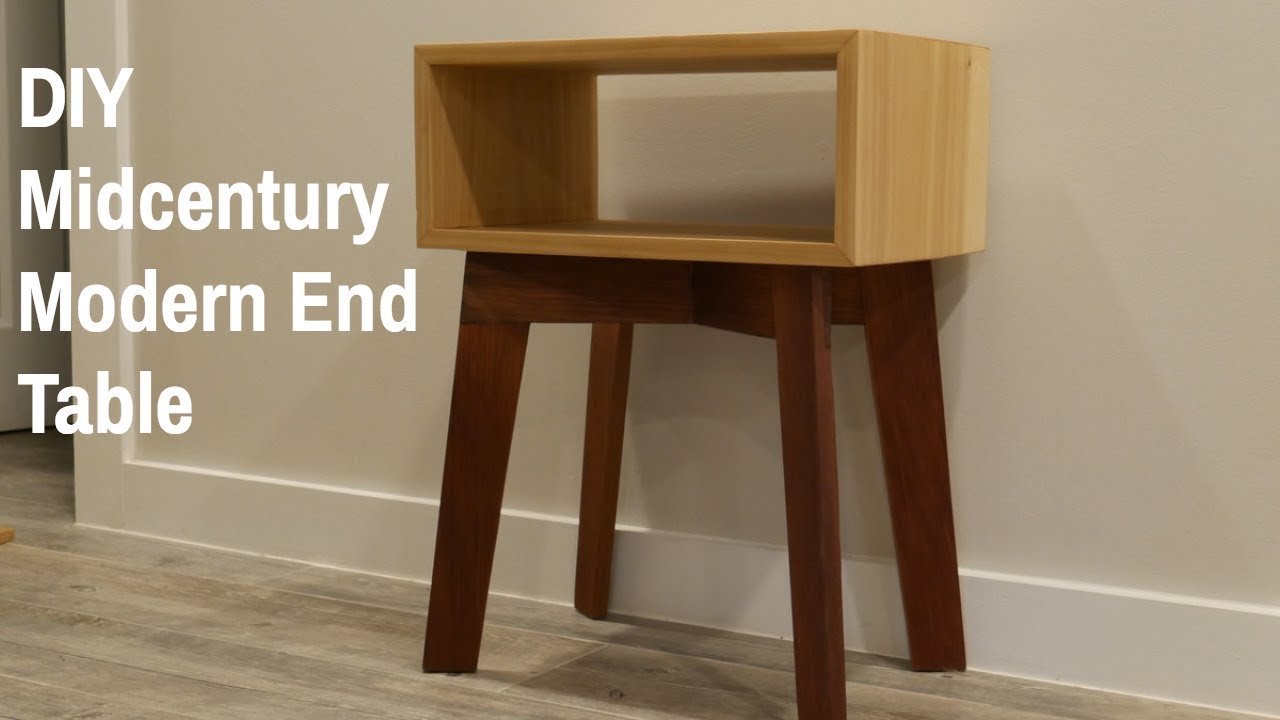 diy mid century modern end table nathan builds