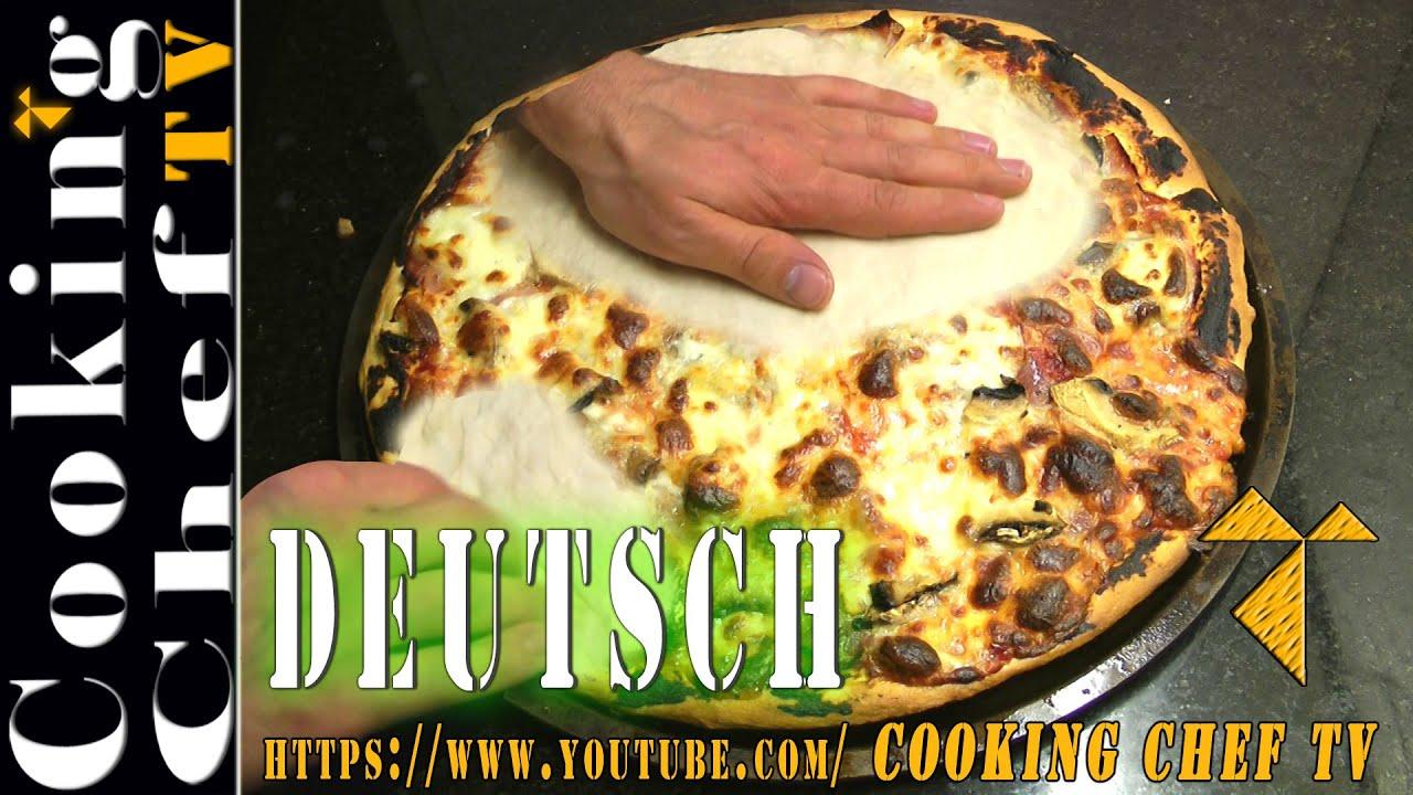 Pizzateig Perfekt Mit Der Hand Ausrollen Pizza Selber Machen