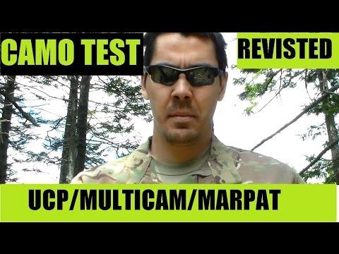 Military USGI Camo Test Revisited MARPAT, MULTI-CAM, UCP