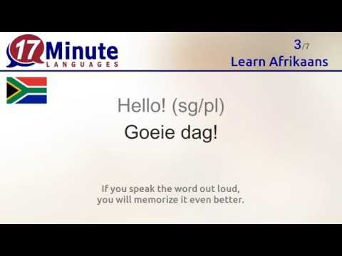 Learn Afrikaans (free language course video)