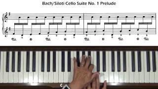Bach / Siloti Prelude from Cello Suite No.1 Piano Tutorial