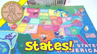 The 50 United States Of America 60-piece Jigsaw Puzzle, 2011 Lpf - State Capitals Included!