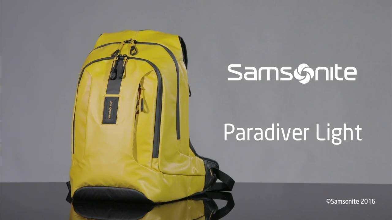 Samsonite Academy Paradiver Light - YouTube 9de7c9f736