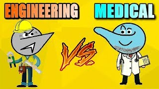 Engineering Vs Medical Students Life ! thumbnail