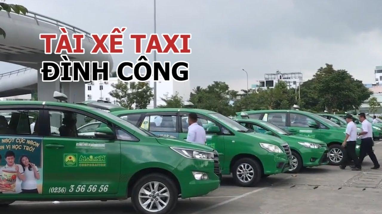 Tài xế 8 hãng taxi đình công phản đối Grab ở sân bay Đà Nẵng